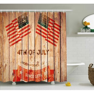 4th Of July American Flag Waving In The Wind Shower Curtain