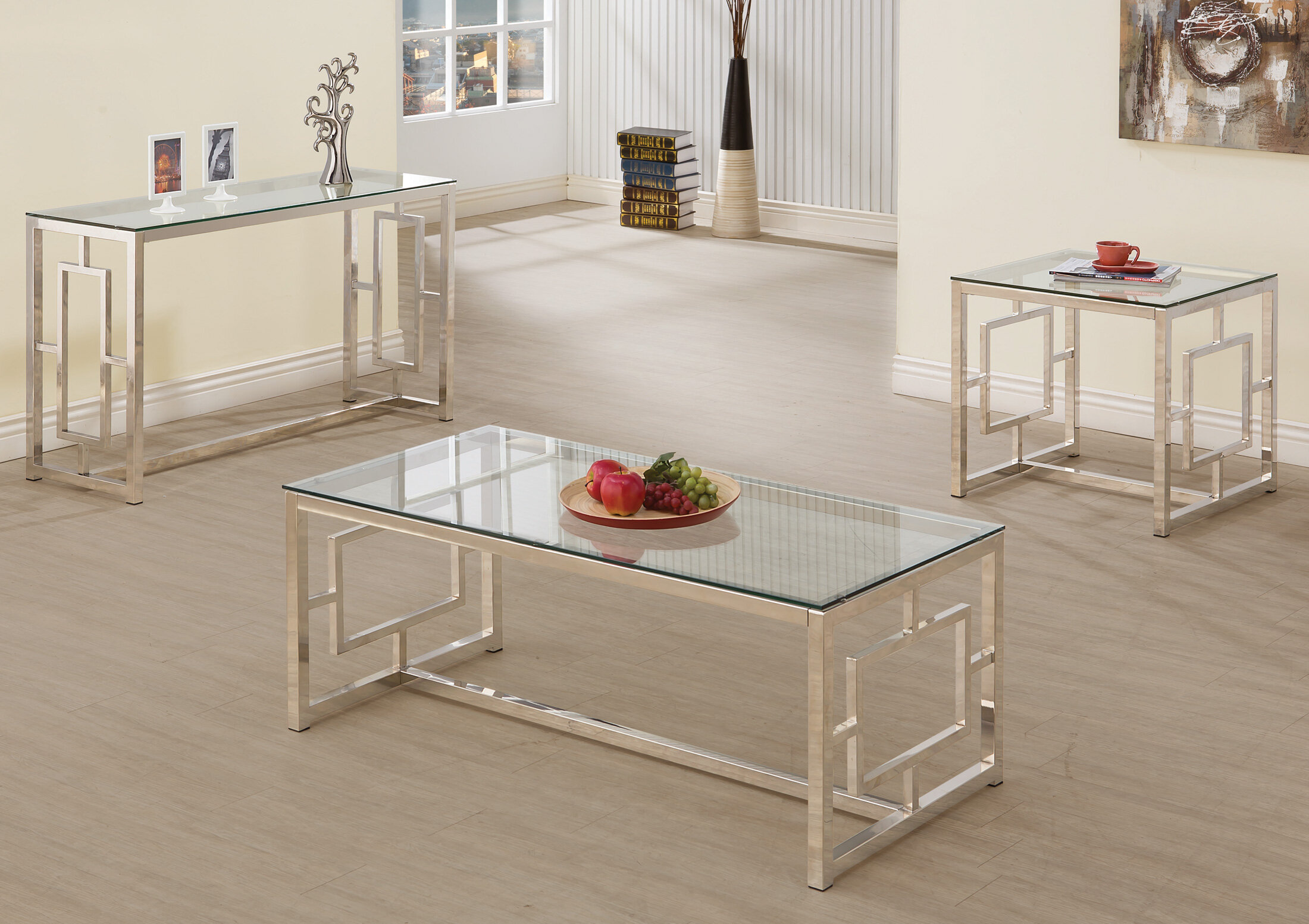 Picture of: Glass Coffee Table Sets You Ll Love In 2020 Wayfair