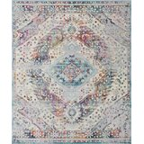 Mosely High-Low Silver Area Rug byBungalow Rose