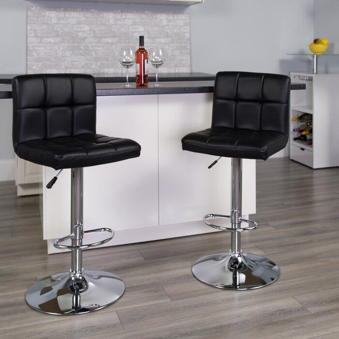 Miraculous Hirano Adjustable Height Swivel Bar Stool Creativecarmelina Interior Chair Design Creativecarmelinacom
