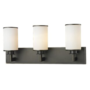 Compare Crumley 3-Light Vanity Light By Breakwater Bay