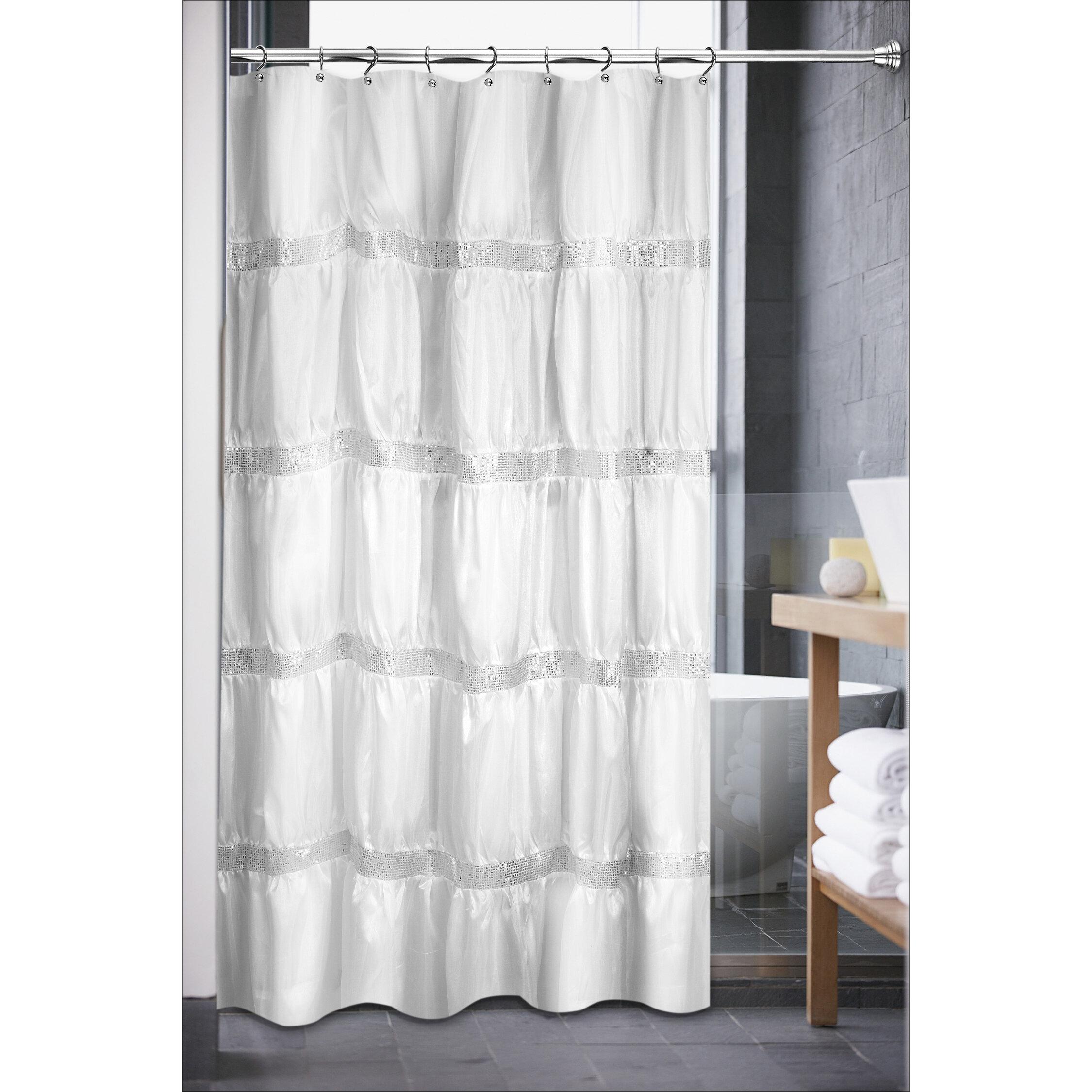 Sweet Home Collection Luxurious Rhinestone Shower Curtain | Wayfair