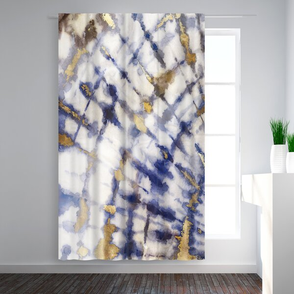 East Urban Home Pi Creative Art Tie Dye I Abstract Blackout Rod Pocket Single Curtain Panel Wayfair