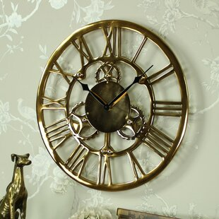 office large size floor clocks wayfair. Bezout Metal Cog Skeleton 46cm Wall Clock Office Large Size Floor Clocks Wayfair