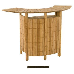 Teak Demi Lune II Home Bar by Les Jardins