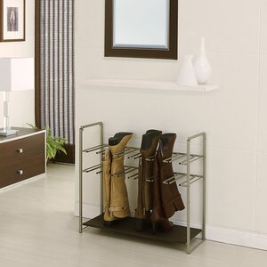 Stackable 2-Tier Metal Shoe Rack