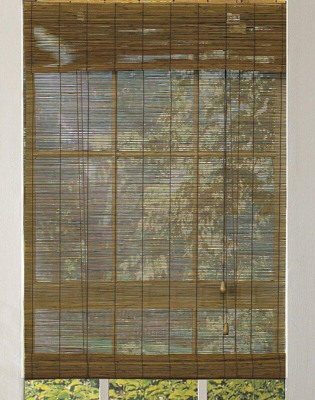 Outdoor Bamboo Roll-Up Shade