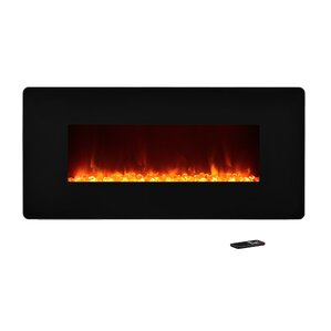 Fulton Wall Mount Electric Fireplace by Wade Logan