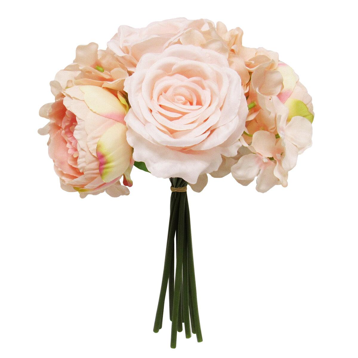 Primrue Rose Hydrangea Peony Bouquet Mixed Stems Wayfair