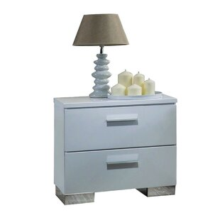 Press Wooden 3 Drawer Nightstand