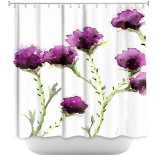 Milk Thistle Single Shower Curtain
