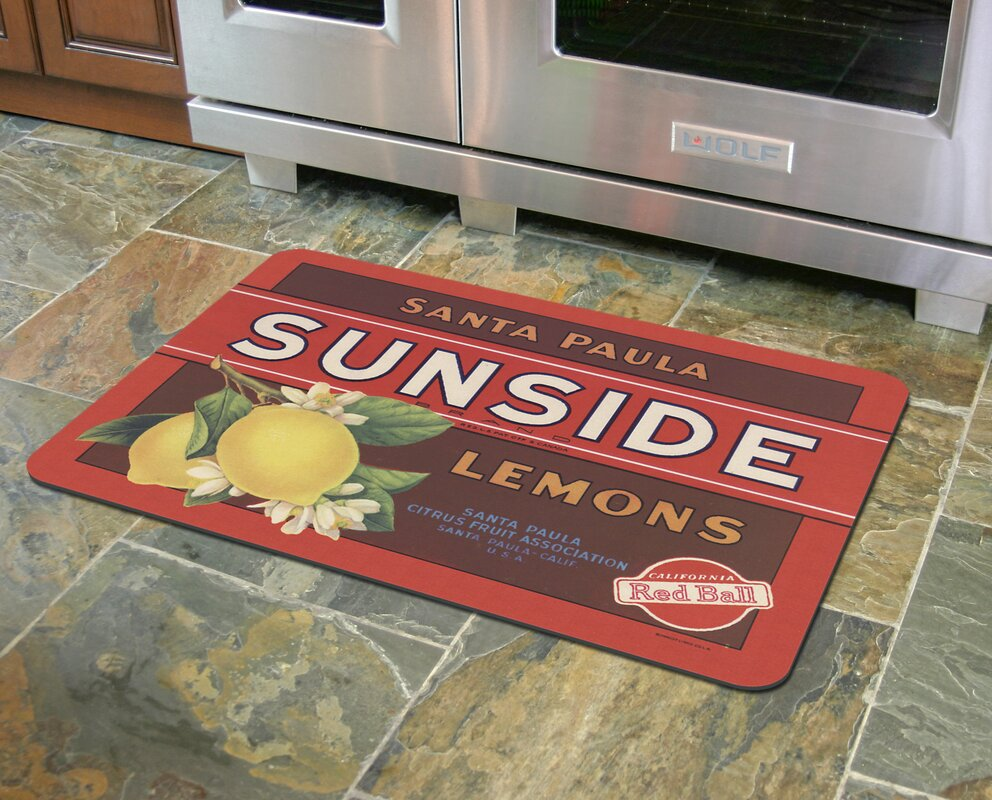 Twila Sunside Lemons Kitchen Mat