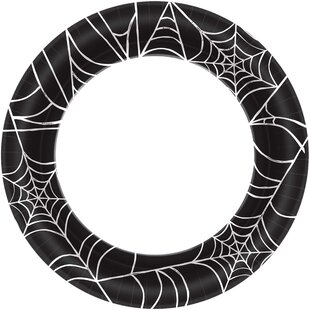Halloween Spider Web Round Paper Dinner Plate (Set of 40)