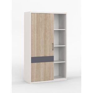 Drehtürenschrank Porto, 161 cm H x 96 cm B x 35,5 cm T von Hokku Designs