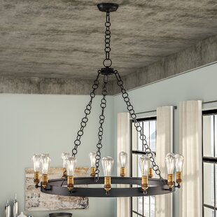 Shop for Harpa 14-Light Wagon Wheel Chandelier By 17 Stories