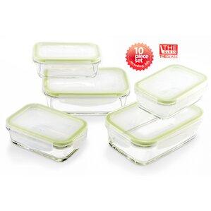 rectangular 5 container food container set