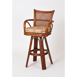 Teodora 24 Swivel Bar Stool Bayou Breeze