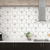 """Misha 9"""" x 10"""" Porcelain Patterned Wall & Floor Tile"""