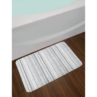 Birch Grey And White Bath Rug by East Urban Home