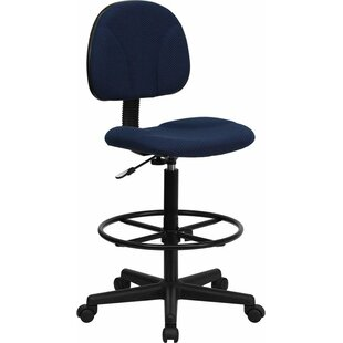 Kruger Black Patterned Fabric Drafting Chair