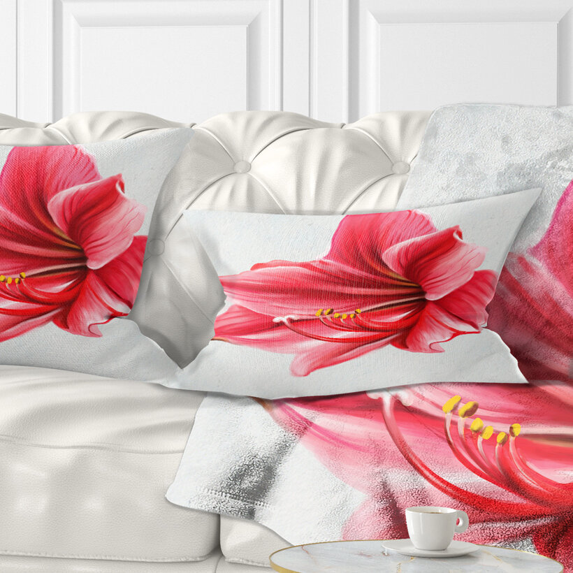 East Urban Home Floral Big Flower Sketch Lumbar Pillow Wayfair