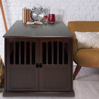 Admirable Primetime Petz Pet Crate End Table In Walnut Reviews Wayfair Interior Design Ideas Grebswwsoteloinfo