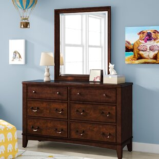 Virginia 6 Drawer Double Dresser with Mirror