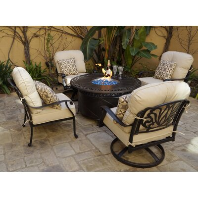 Buller 5 Piece Fire Pit Chat Multiple Chairs Seating Group With Cushions Canora Grey On Wayfair North America Ibt Shop