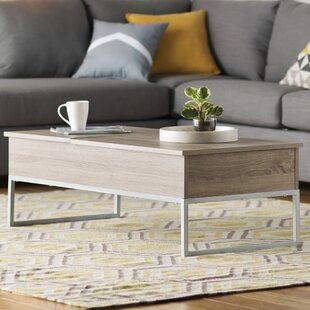Pettis Lift Top Coffee Table with Tray Top