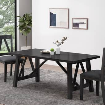 Tommy Hilfiger Finch Elmhurst Dining Table Black And Weathered Grey Wayfair