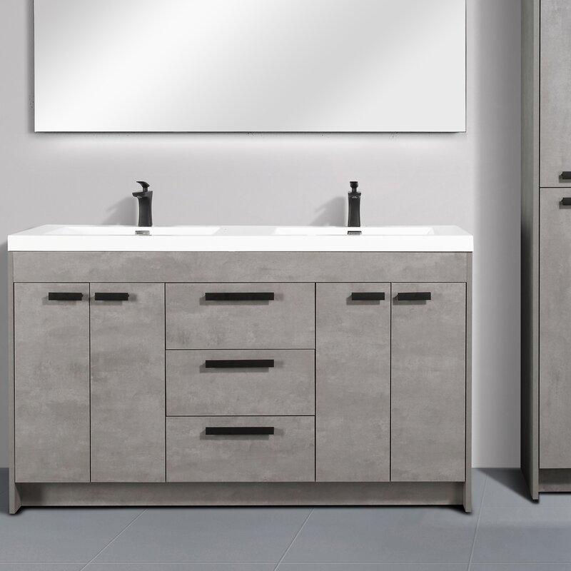 Latitude Run Daggna 59 Double Bathroom Vanity Set Wayfair