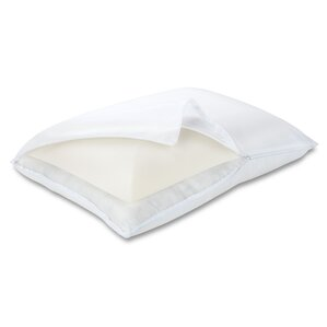 Memory Foam and Fiber Standard Pillow by Luxury Solutions