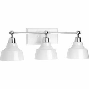 Deals Cloer 3-Light Incandescent Vanity Light ByLatitude Run