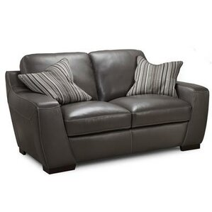 Hagan Leather Loveseat by Latitude Run