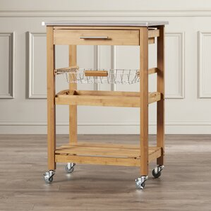 Arbor Oaks Kitchen Cart with Stainless St..