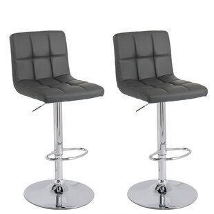 Elser Adjustable Height Swivel Bar Stool (Set of 2)