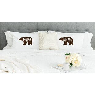 Papa Bear and Mama Bear Pillowcases (Set of 2)