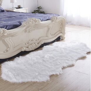 Haywards Luxury Hand Tufted Faux Fur White Area Rug