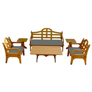Burliegh 6 Piece Sunbrella Sofa Set with Cushions