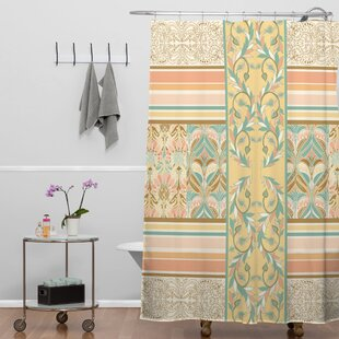 Jacqueline Maldonado Vintage Stripe Shower Curtain
