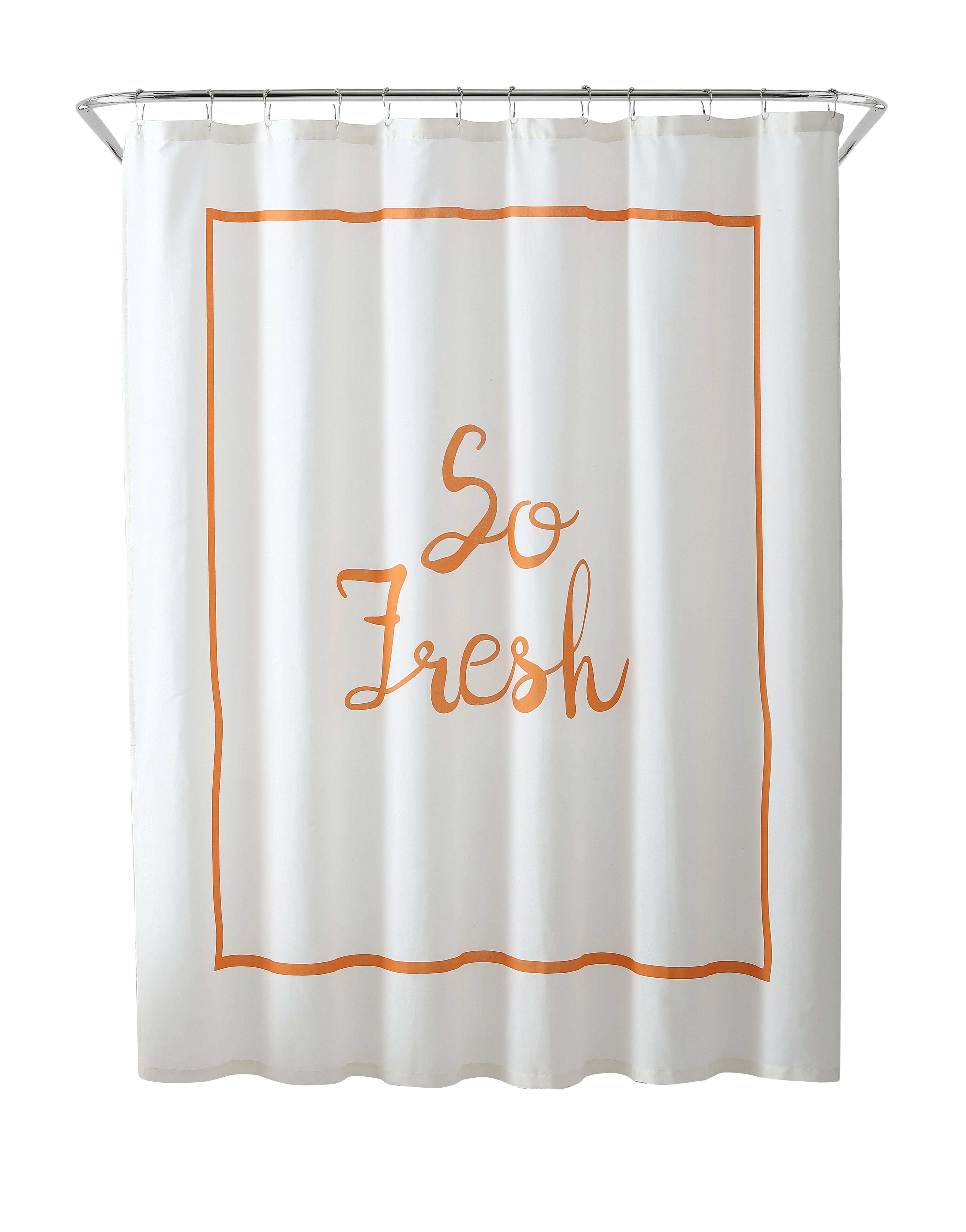 Freshee Fabric Single Shower Curtain Reviews Wayfair