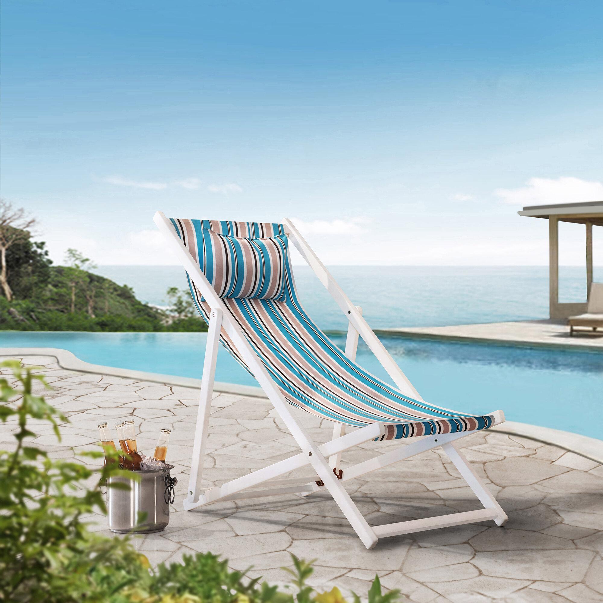 Terrific Dugger Sunjoy Belton Reclining Folding Beach Chair Theyellowbook Wood Chair Design Ideas Theyellowbookinfo