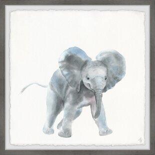 Gonzalo Playful Elephant Framed Art by Viv   Rae