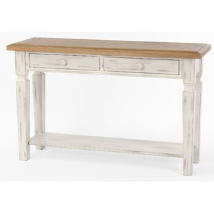 Tianna Foldover Leaf Console Table