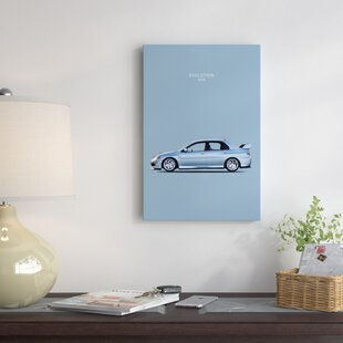 'Mitsubishi Lancer Evolution VIII' Graphic Art Print on Canvas ByEast Urban Home