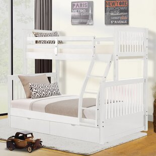 Bog Water Twin Over Full Bunk Bed with Drawers
