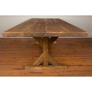 Reclaimed Wood Industrial Farm Harvest 30 Dining Table