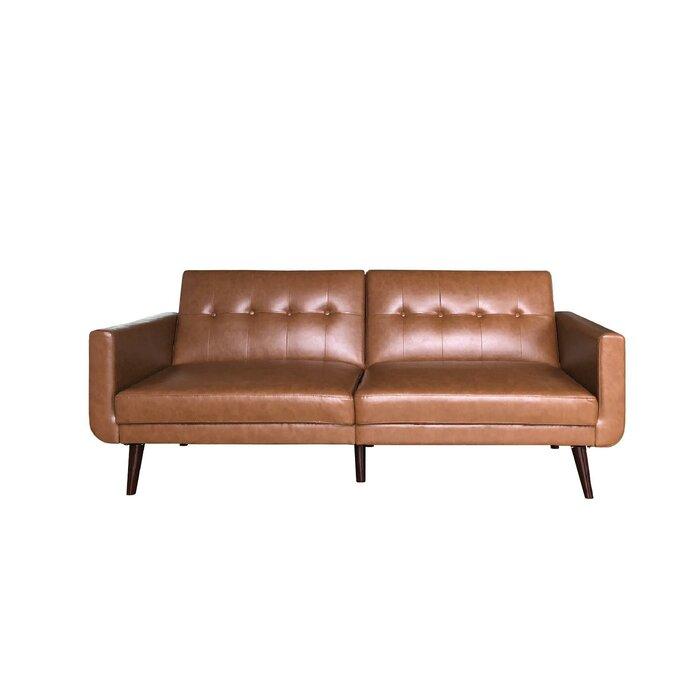 Jules Modern Velvet Convertible Sofa