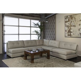 Glaude Buttoned L-Shape Simple Modular Sectional
