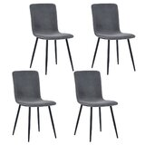Alec Velvet Upholstered Dining Chair (Set of 4)